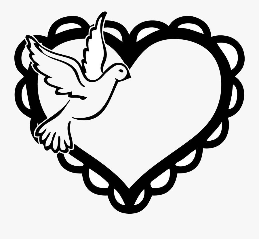 Dove Clipart Heart Simple Love Birds Drawing Free Transparent Clipart Clipartkey