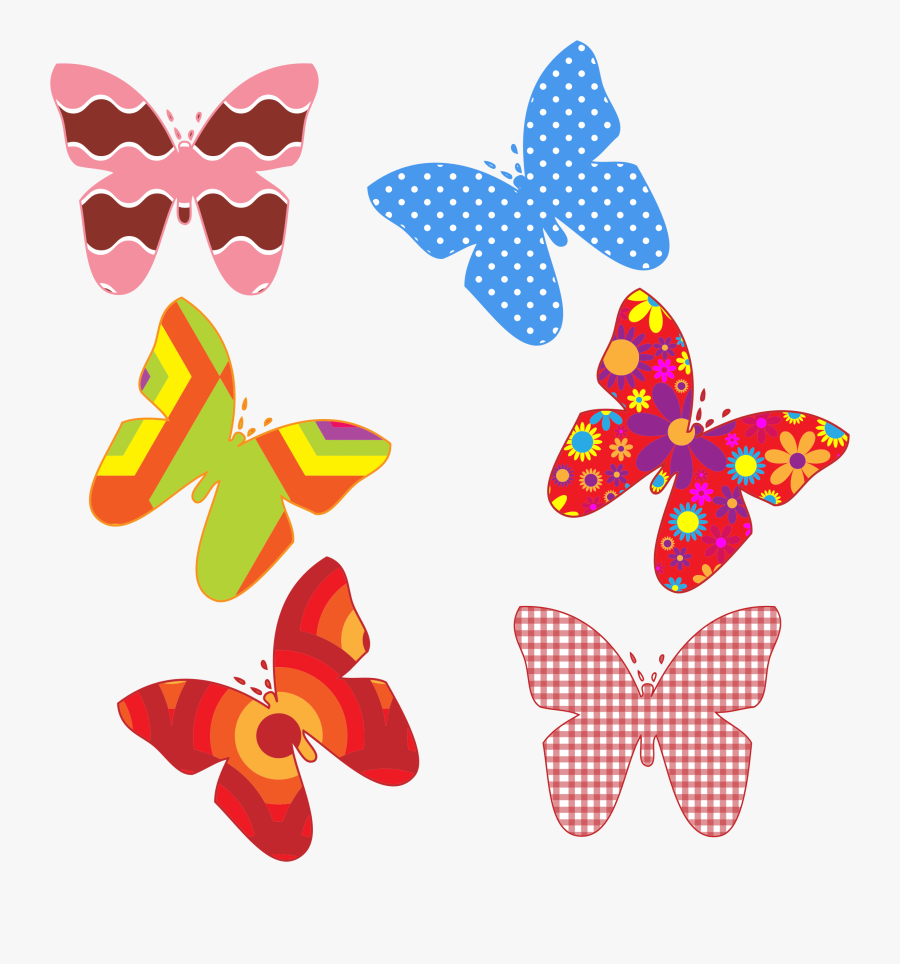 Butterflies Butterfly Colorful - Colorful Butterfly Designs Png, Transparent Clipart