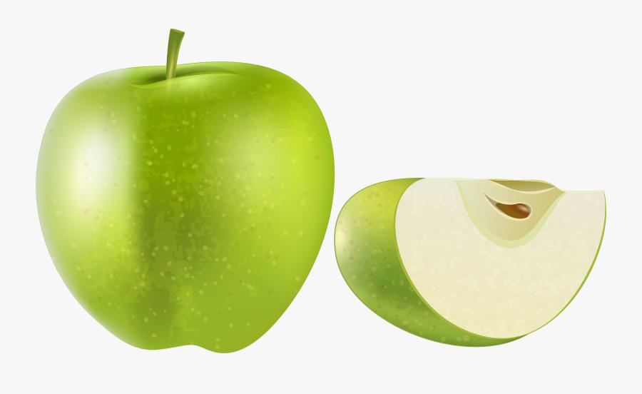 Green Apple Transparent Png Clip Art Image - Green Apple Fruit Png, Transparent Clipart