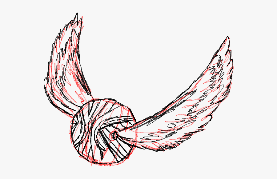 Golden Snitch Drawing - Golden Snitch Fan Art, Transparent Clipart