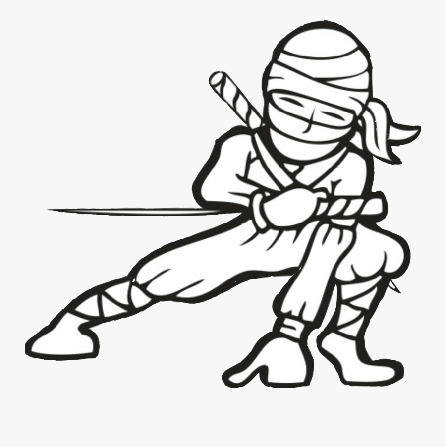 Baby Angel Ak 47 Gun Drawing Freetoedit - Ninja With Sword, Transparent Clipart