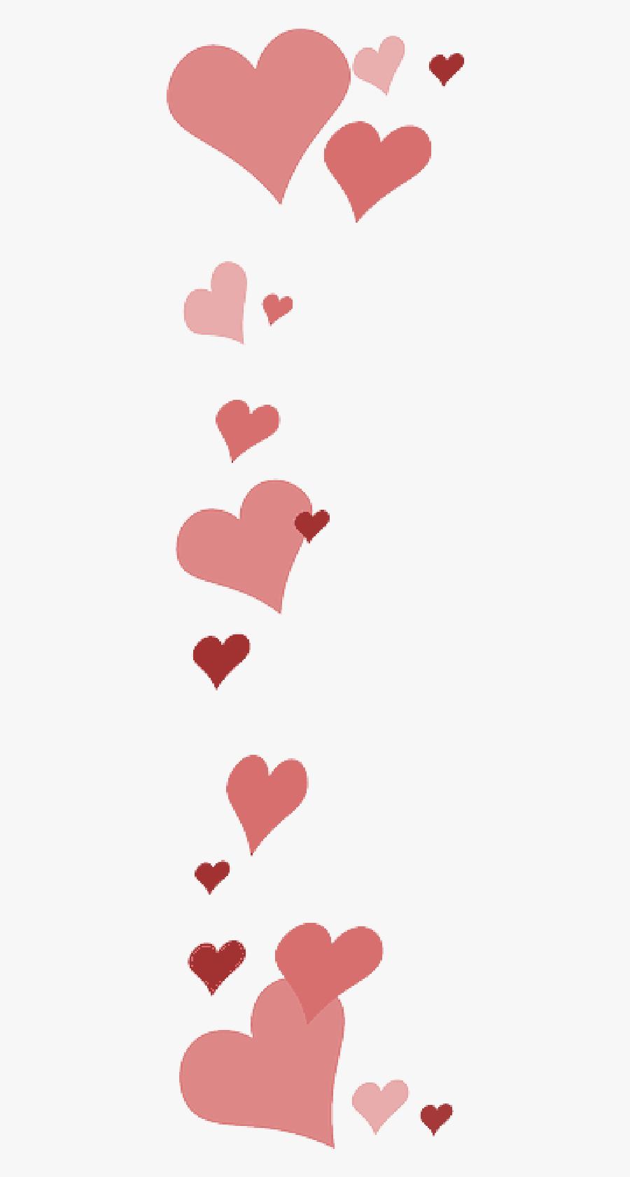 Day,pink,clip Art,illustration,heart - Transparent Background Heart Border, Transparent Clipart