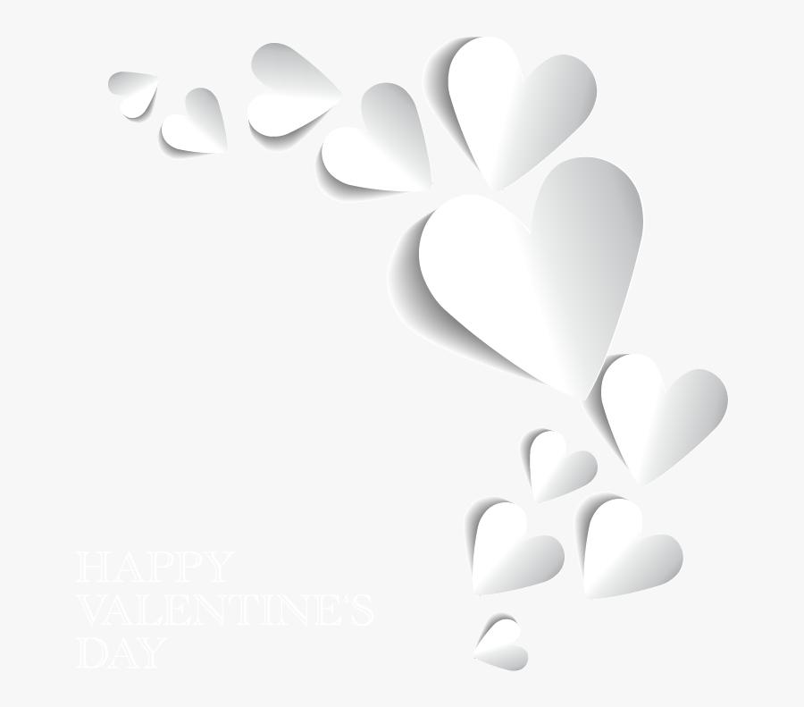 White Heart Border Black Background Free Transparent Clipart Clipartkey