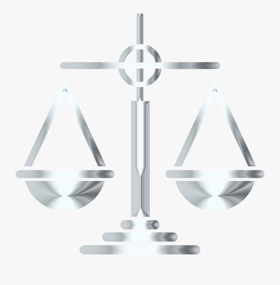 Silver Scales Of Justice Icon Clip Arts, Transparent Clipart