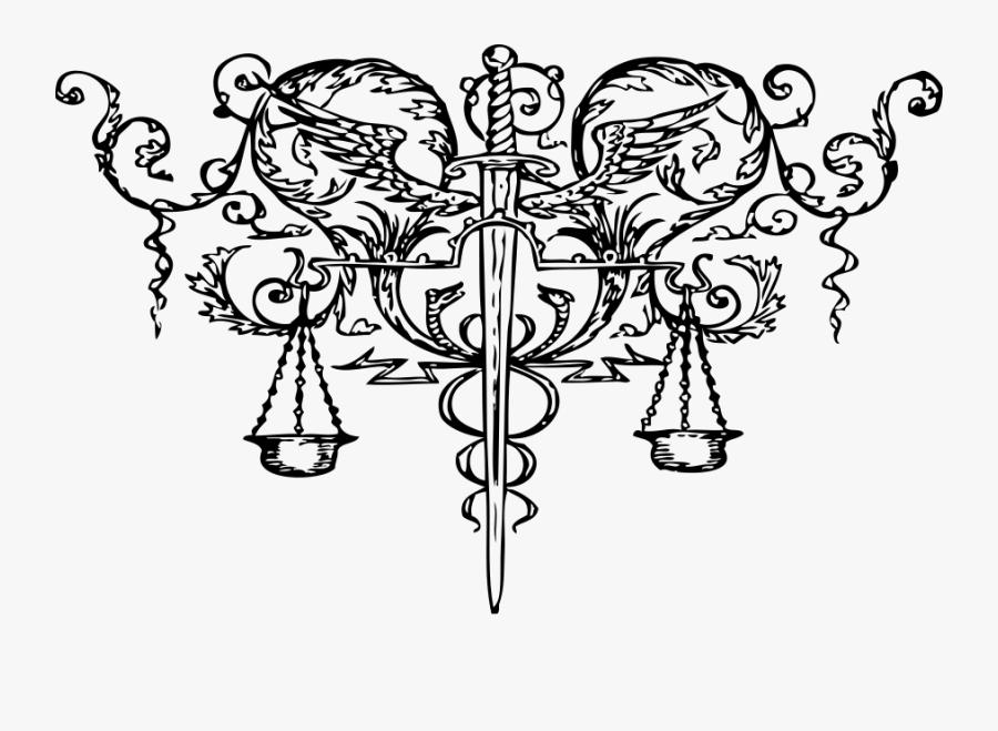 Scales Of Justice Clipart, Vector Clip Art Online, - Fiat Iustitia Et Pereat Mundus, Transparent Clipart