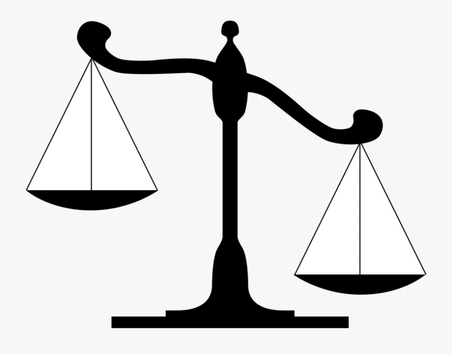 Lady Justice Measuring Scales Clip Art Judge - Scales Of Justice, Transparent Clipart