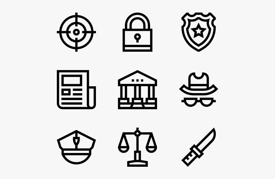 Law And Justice - Hand Drawn Social Media Icons Png, Transparent Clipart