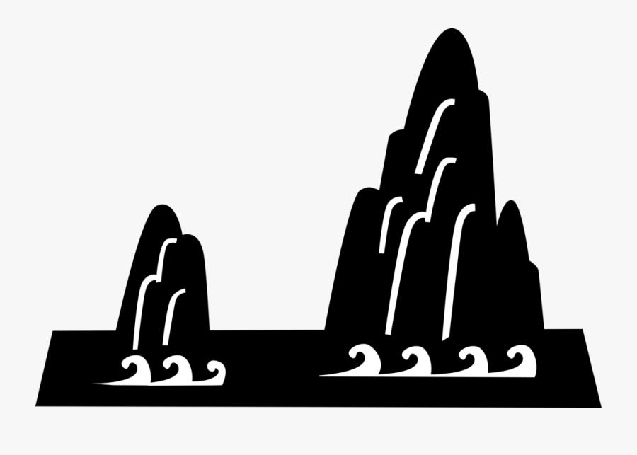 Clip Art Japanese Landscape Image Illustration - Japanese Mountains Vector, Transparent Clipart