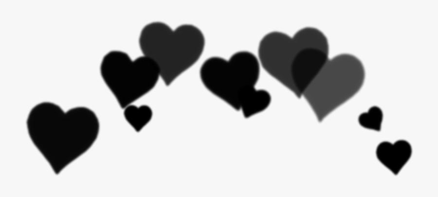 #black #heart #hearts #crown #crowns #heartcrown #aesthetic - Aesthetic Black Heart Crown Png, Transparent Clipart