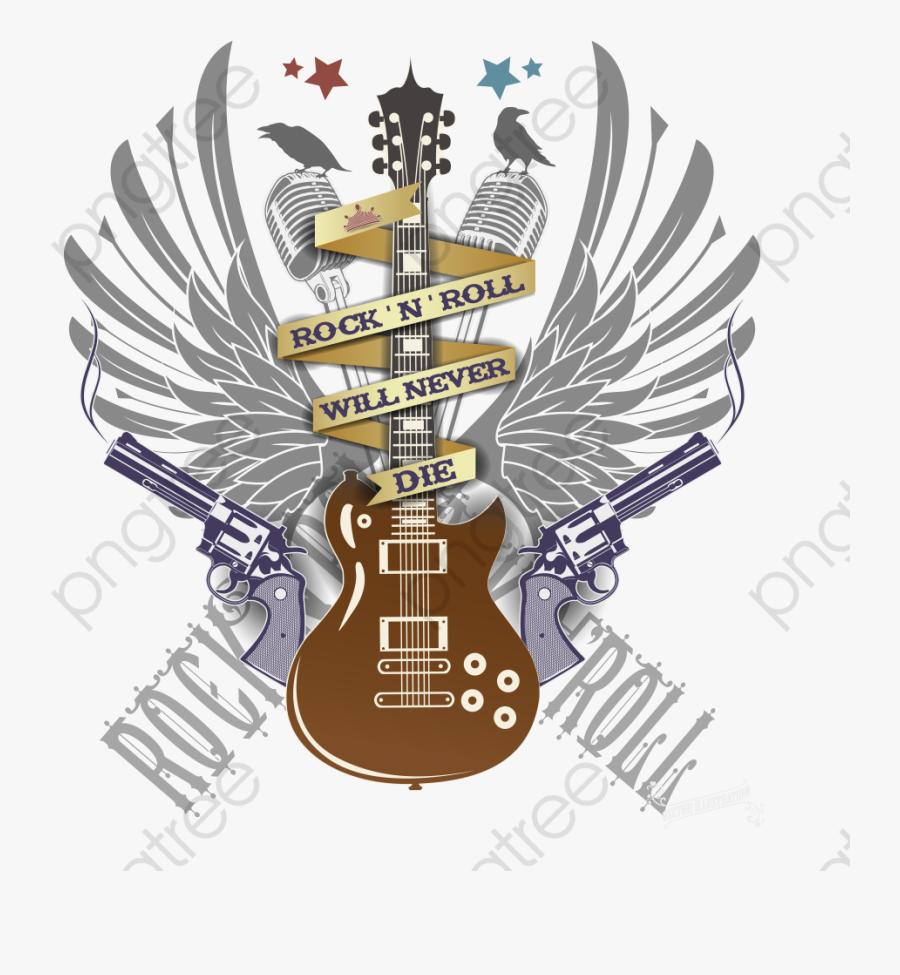 Music Clipart Rock N - Guitarra Metal Rock, Transparent Clipart