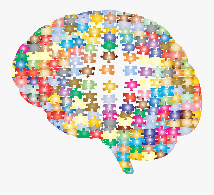 Brain As A Puzzle, Transparent Clipart