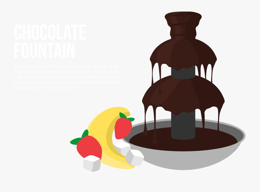 Graphic Chocolate Transparent Stream - Chocolate Fountain Clipart, Transparent Clipart