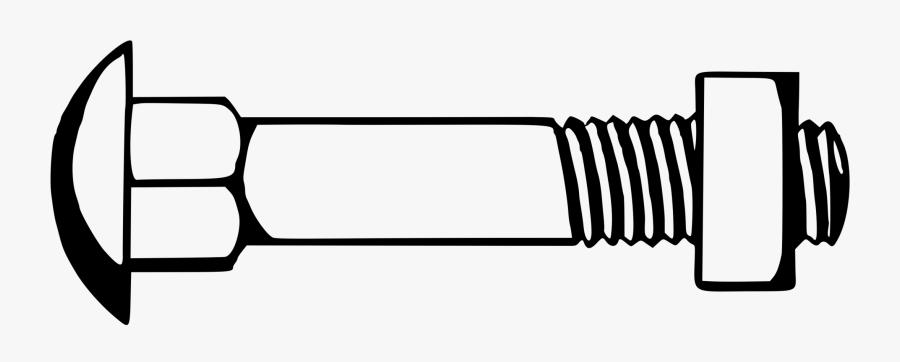 Automotive Exterior,auto Part,nut - Nut And Bolt Clip Art, Transparent Clipart