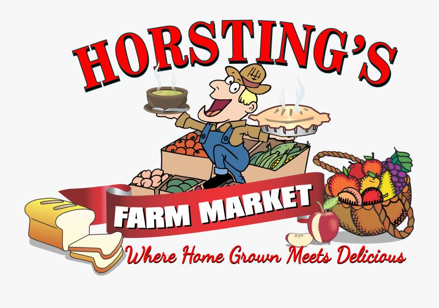 Farmers Market Cartoon, Transparent Clipart