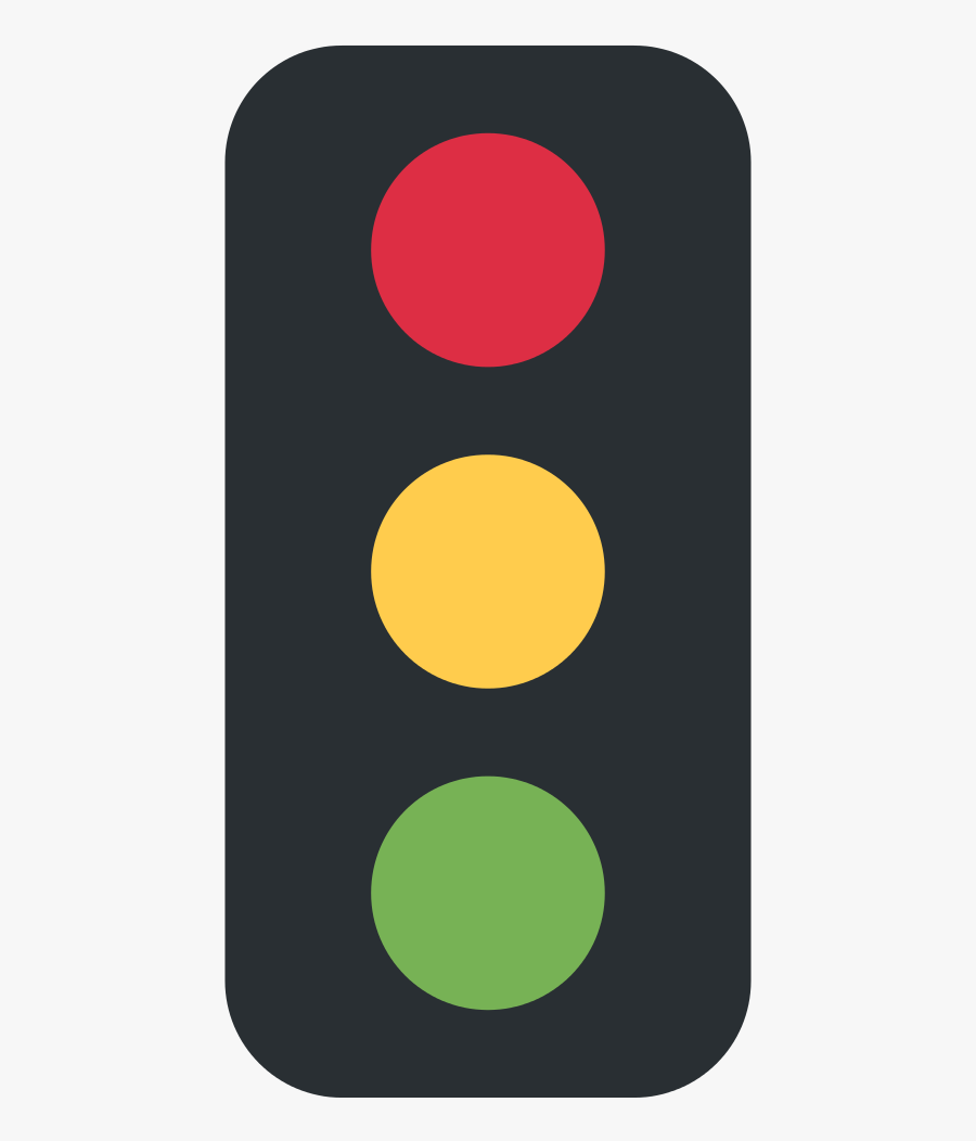 Traffic Light,signaling Art,pattern - Vertical Traffic Light Emoji, Transparent Clipart