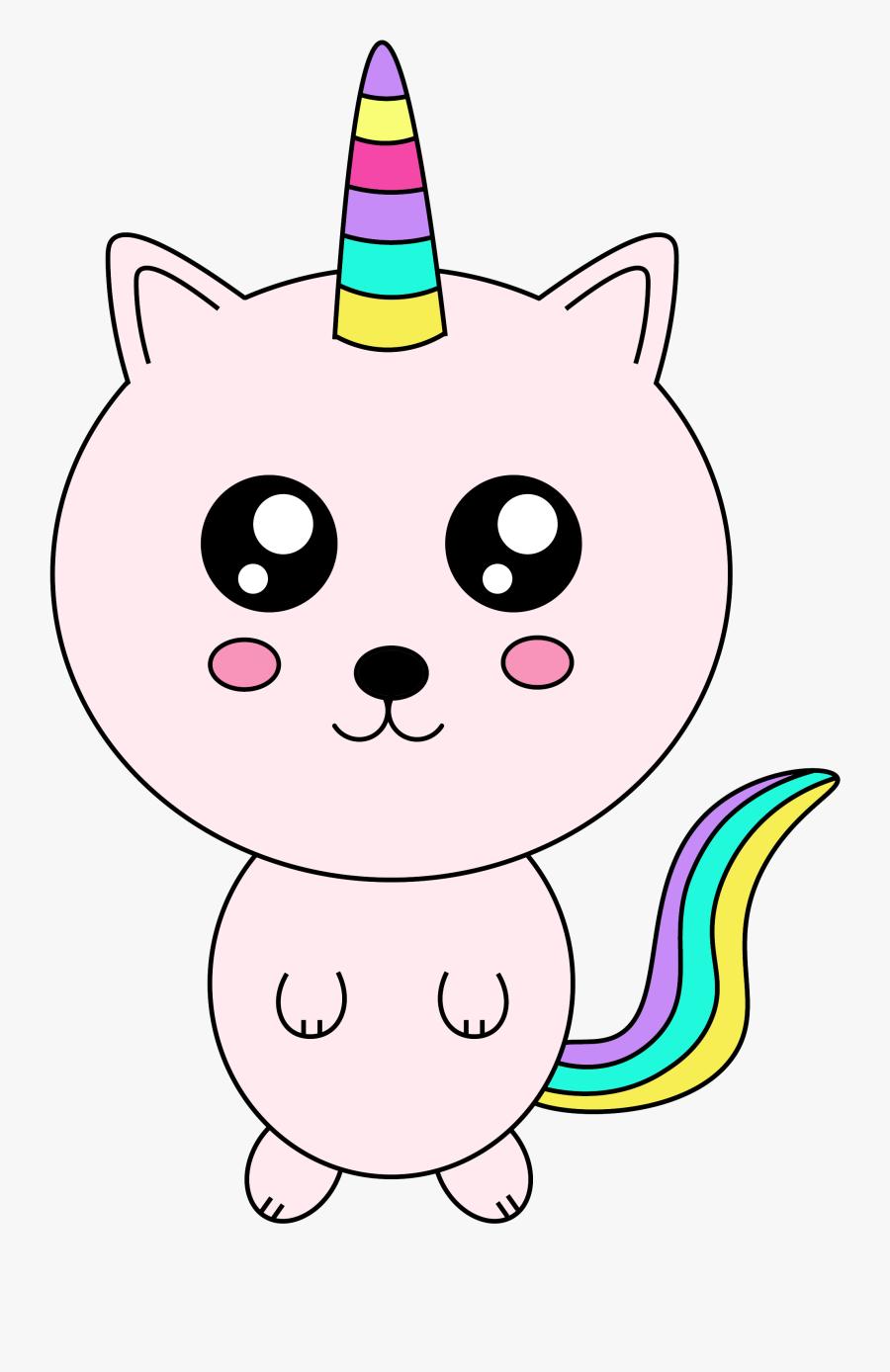 Free Cute Unicorn Cat - Cute Unicorn Cat, Transparent Clipart