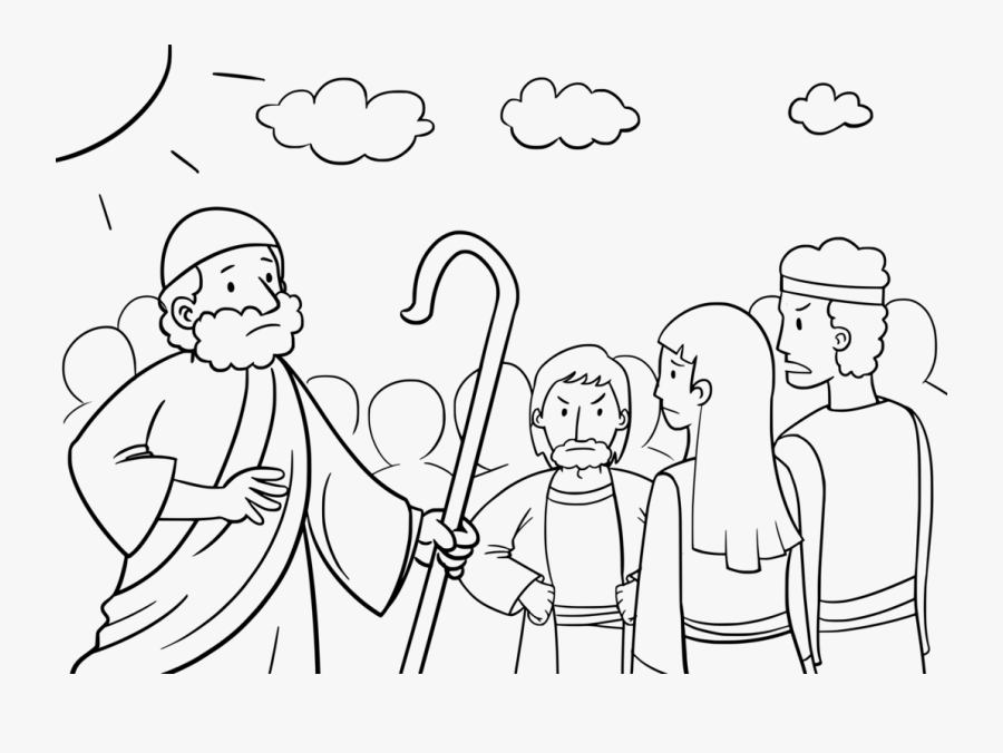 Transparent Israelites Clipart - Moses And The Israelites Coloring Pages, Transparent Clipart