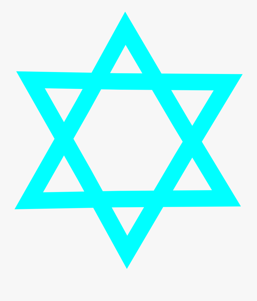 Blue,triangle,symmetry - Symbols Of Christianity Islam And Judaism, Transparent Clipart