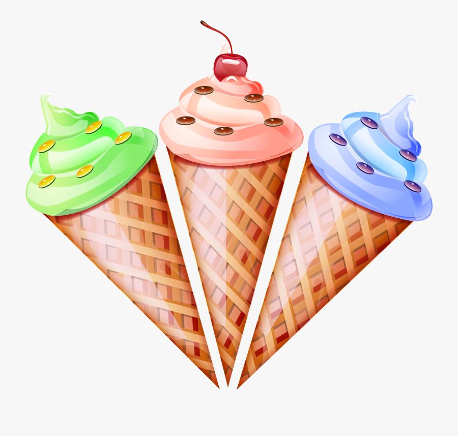 Ice Cream Cone Waffle Snow Cone - Vector Ice Cream Png, Transparent Clipart