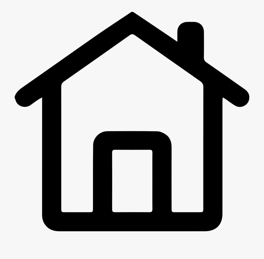 Transparent Mobile Home Clipart - Home Icon Png White, Transparent Clipart