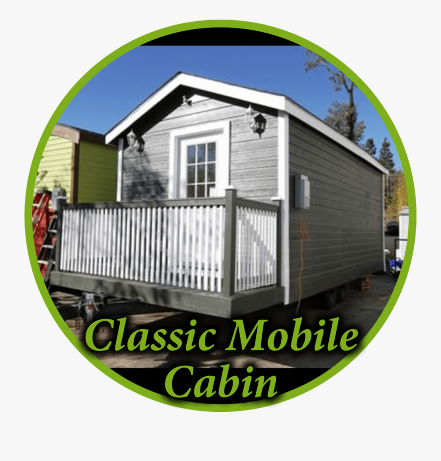 Classic Mobile Cabin Circle - House, Transparent Clipart