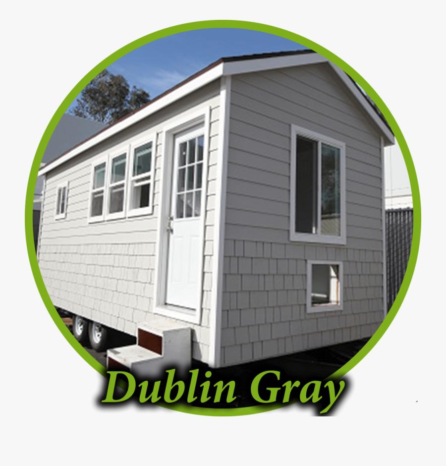 Dublin Gray Circle - House, Transparent Clipart