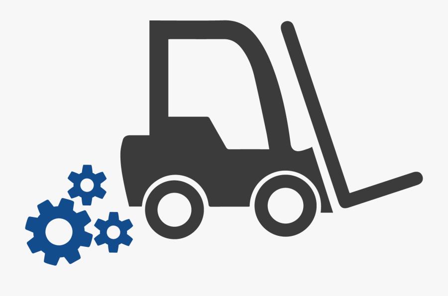 Transparent Background Forklift Icon, Transparent Clipart