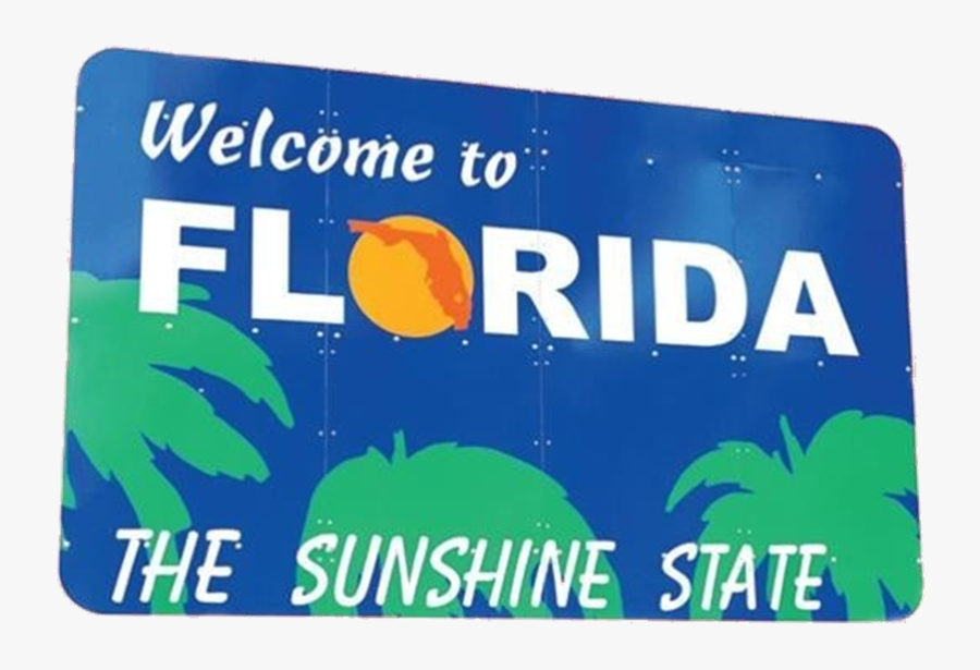 Clip Art To Png For - Florida Welcome Center, Welcome To Florida Sign, Transparent Clipart