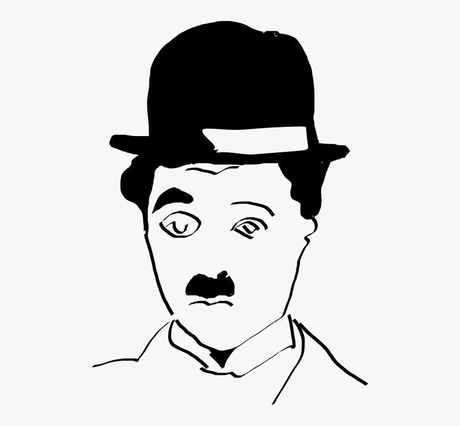 Hairstyle,art,monochrome Photography - Charlie Chaplin Head Png, Transparent Clipart