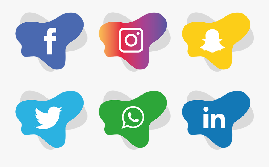 Social Media Icons Facebook Like And Love Buttons Png - Facebook And Instagram Icon Png, Transparent Clipart