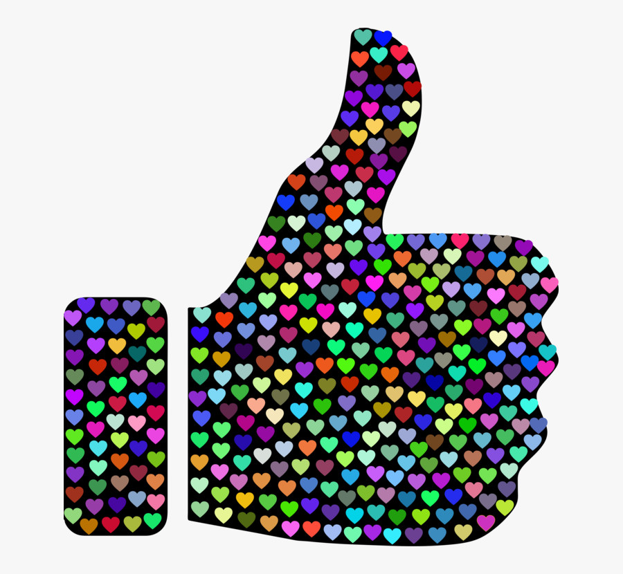 Purple,thumb Signal,computer Icons - Heart With Thumbs Up Png, Transparent Clipart