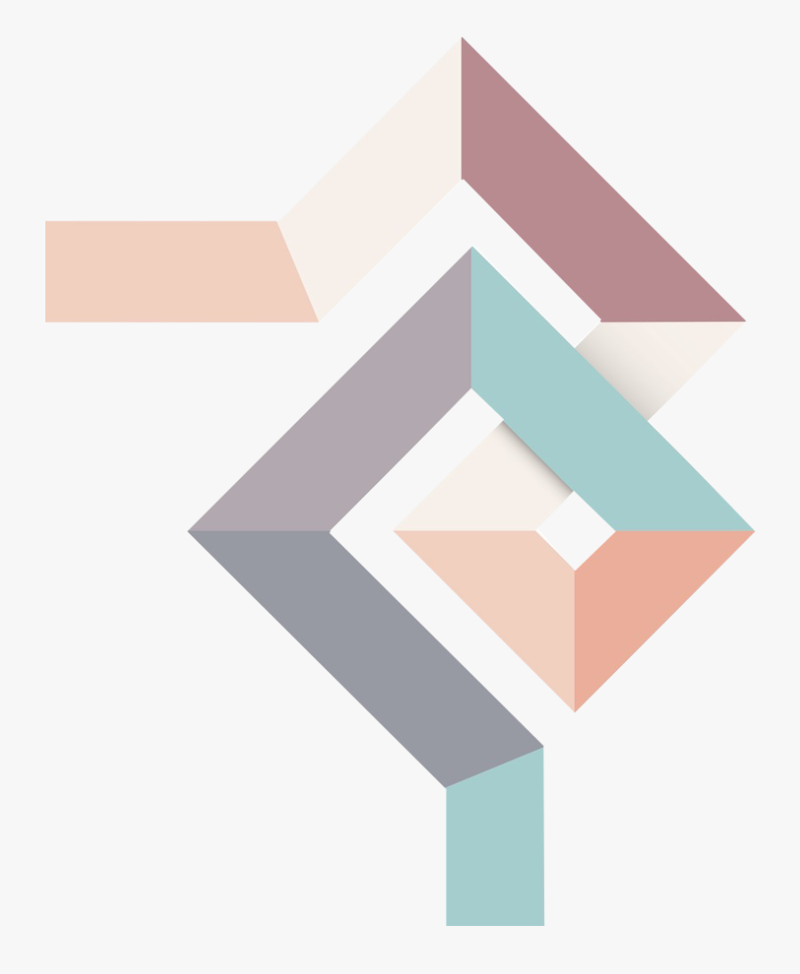 Transparent Diamond Shape Clipart - Design Vector Geometric Abstract, Transparent Clipart