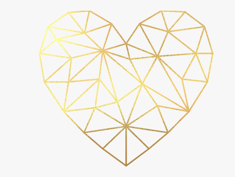 Geometric Heart Png - Geometric Heart Vector Png, Transparent Clipart