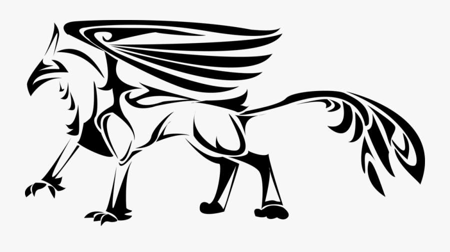 Drawing Tribals Griffin - Simple Animal Designs Png, Transparent Clipart