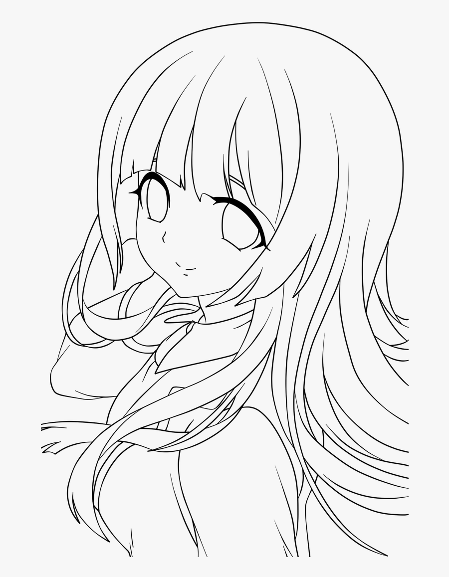 Dust Lineart Images - Anime Girl Lineart Png , Free Transparent
