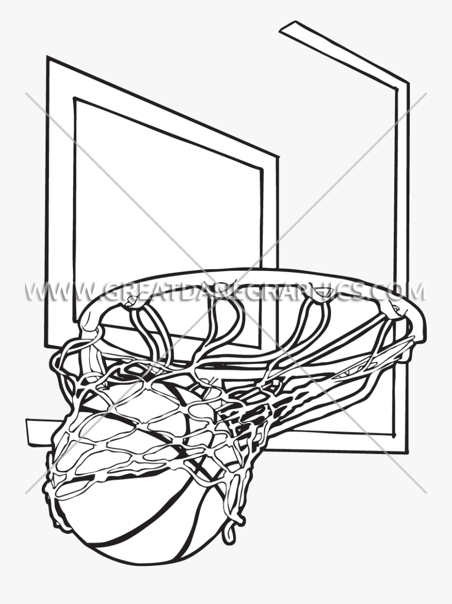 Basketball Net Drawing At Getdrawings - Basketball In Net Drawing, Transparent Clipart