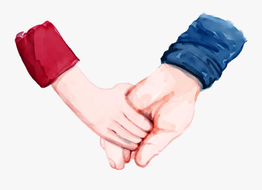 Hand Painted Cartoon Handle Decoration Vector - Fathers Hands Cartoon, Transparent Clipart