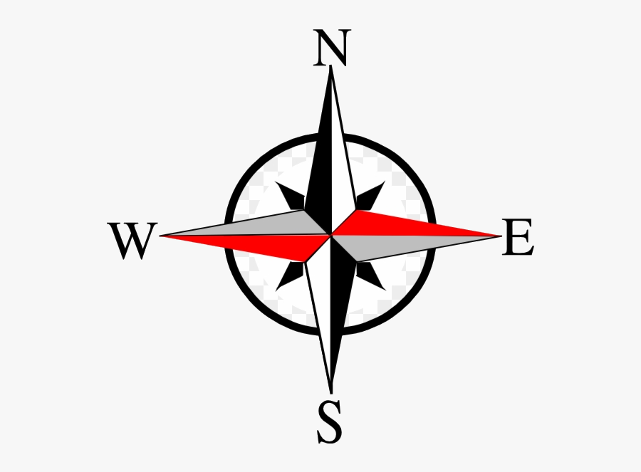 Compass East West Ten Clip Art At Clipartimage North - Compass North East West South, Transparent Clipart