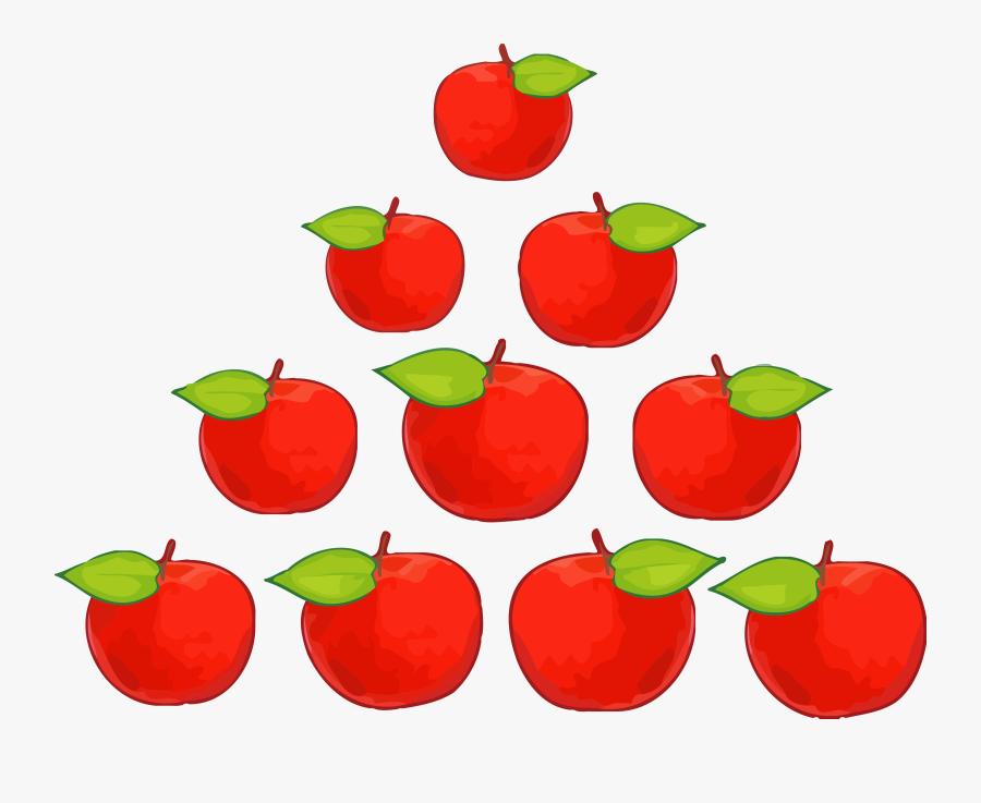 Ten Class Apple Clipart Png - Ten Apples Clipart, Transparent Clipart
