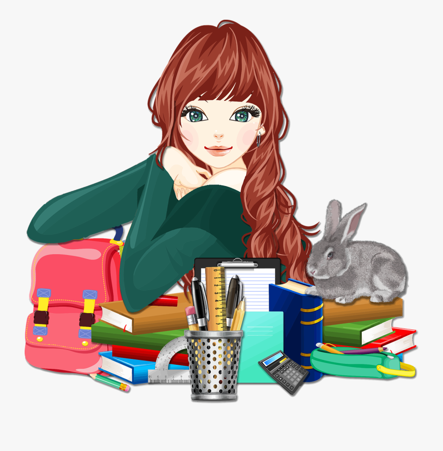 Learn Free Image On - Girls School Clipart, Transparent Clipart
