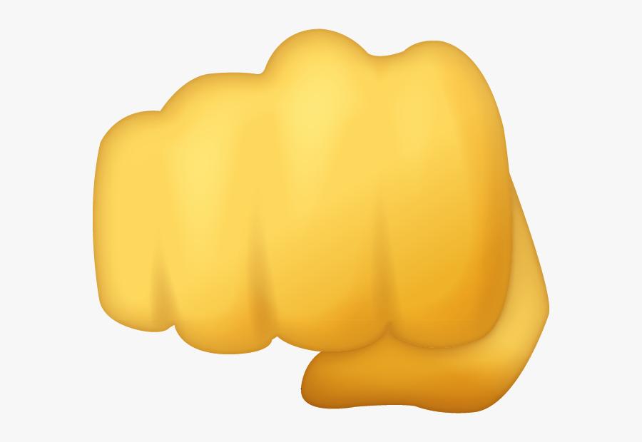 Transparent Hands Behind Back Clipart - Fisted Hand Emoji, Transparent Clipart