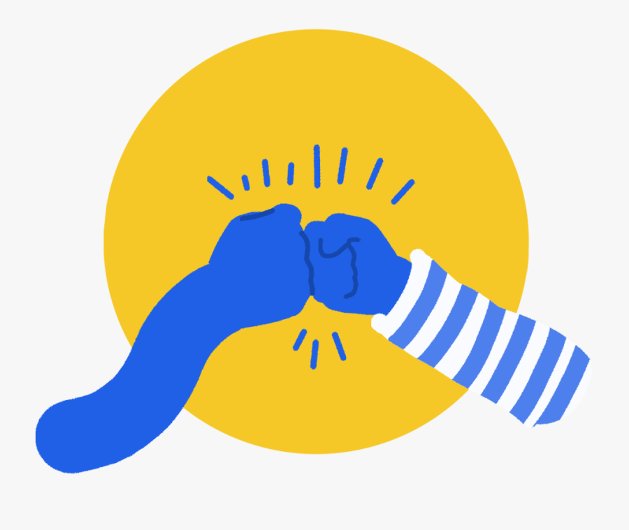 Fist-bump - Illustration - Illustration, Transparent Clipart