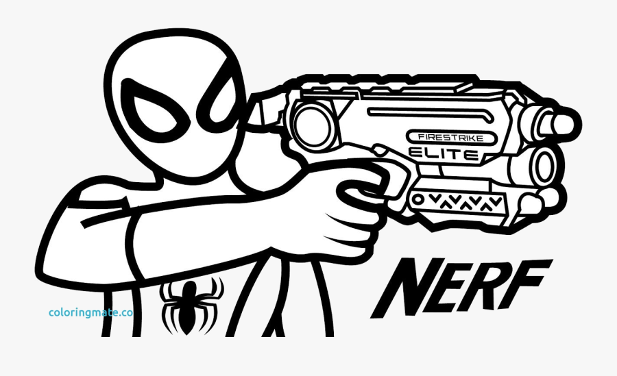 Nerf Gun Crafty Coloring Pages Creative Design Unique - Printable Nerf Coloring Pages, Transparent Clipart