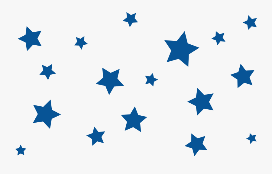 Star Clip Art - Blue Stars Transparent Background, Transparent Clipart