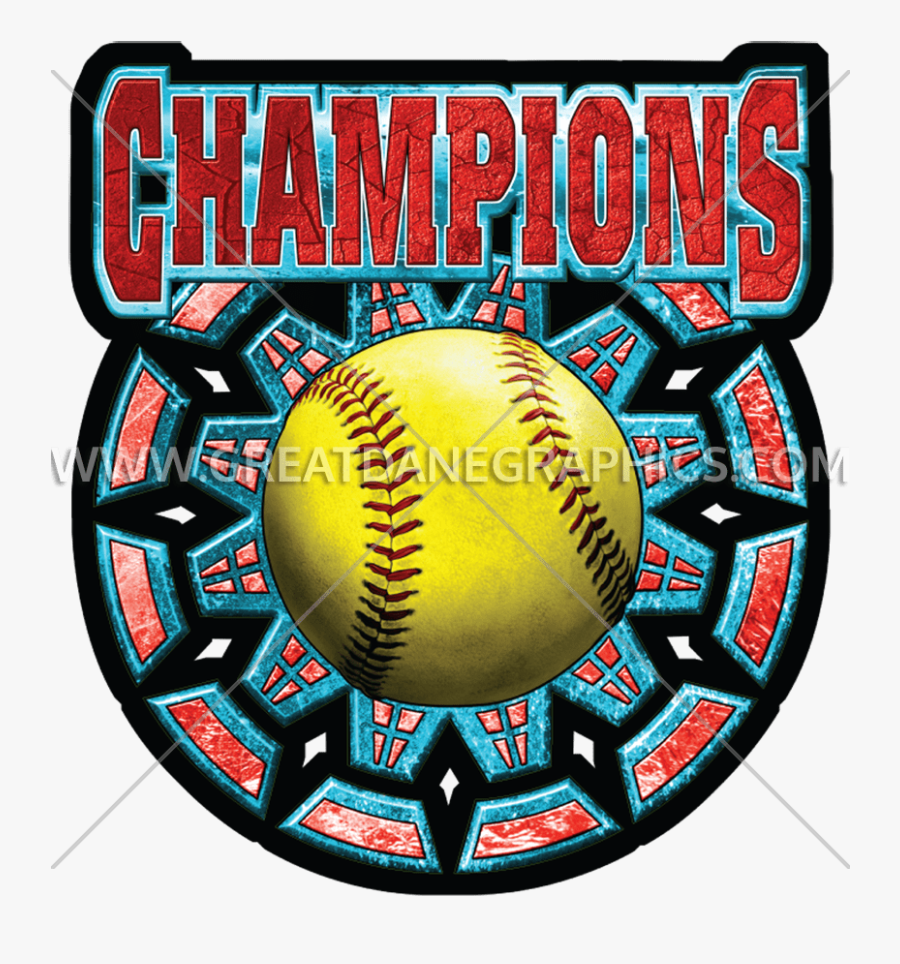 Champions Production Ready Artwork - Champions Backgrounds For Softball, Transparent Clipart