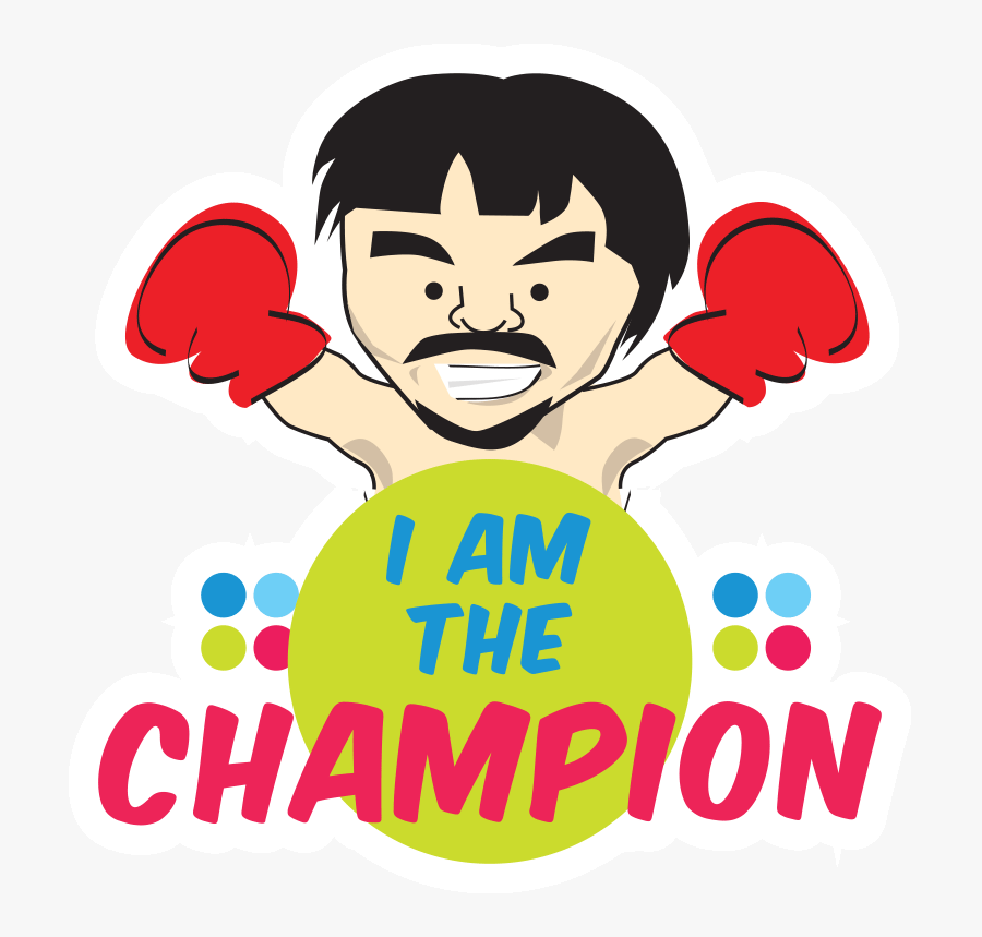 Transparent Champion Clipart - Manny Pacquiao Drawing Png, Transparent Clipart