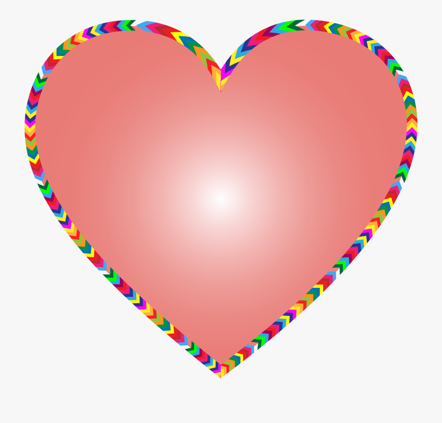 Heart,line,love - Rainbow Heart Clipart, Transparent Clipart