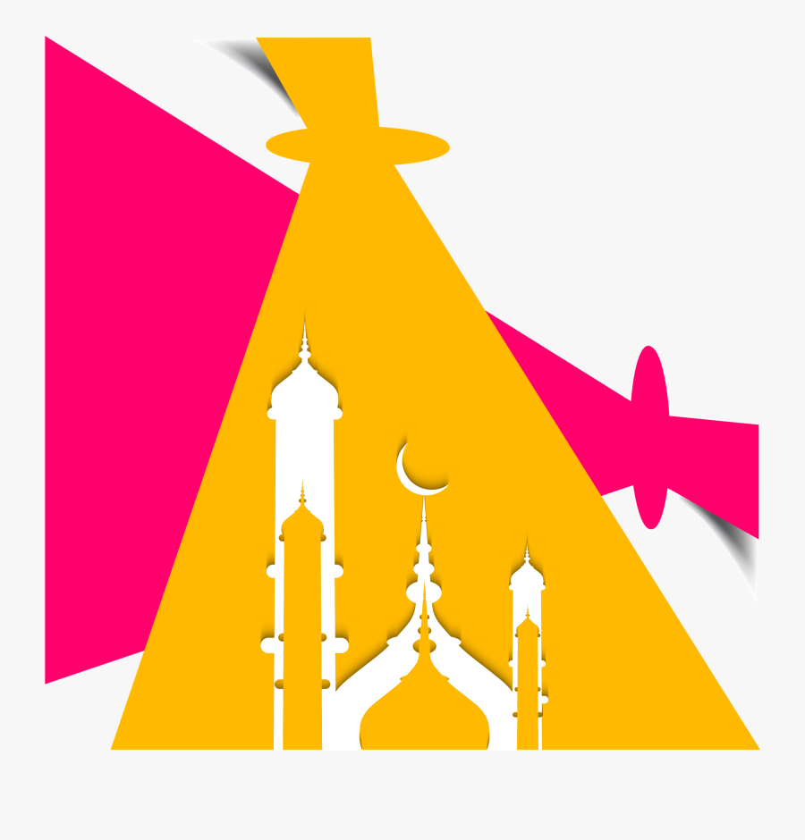 Geometry Of Mosque Ramadan Illustration Al Eid Clipart - Eid Mubarak Flyer, Transparent Clipart
