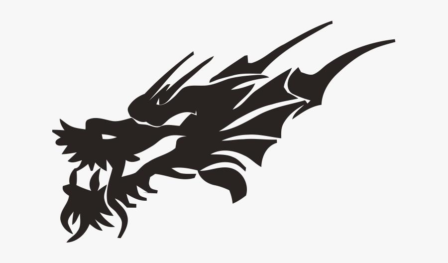 Dragon Head Tribal Tattoo, Transparent Clipart