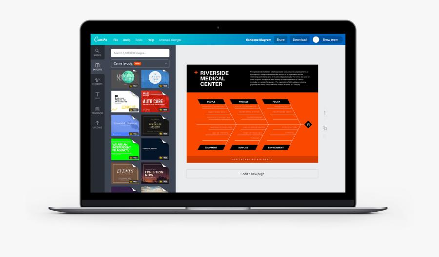 Free Online Fishbone Diagram Maker Design A Custom - Digital Banner Ad Mockup, Transparent Clipart